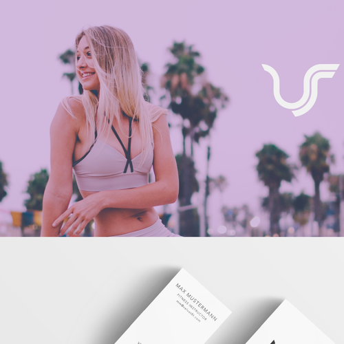 Simplified design with the title 'Gym Fashion Brand'