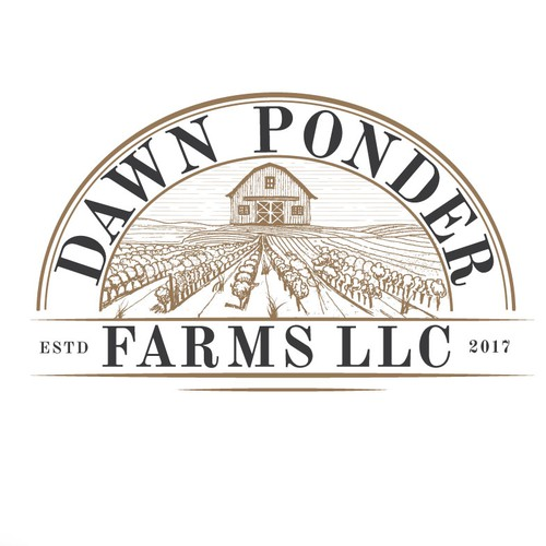 Field design with the title 'Down Ponder farm LLC'