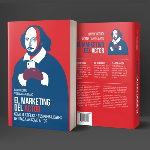 Marketing book cover with the title 'Book cover'