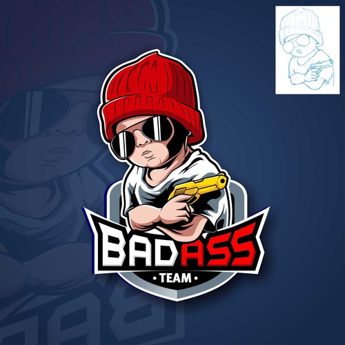Hip hop logo with the title 'Badass Baby'