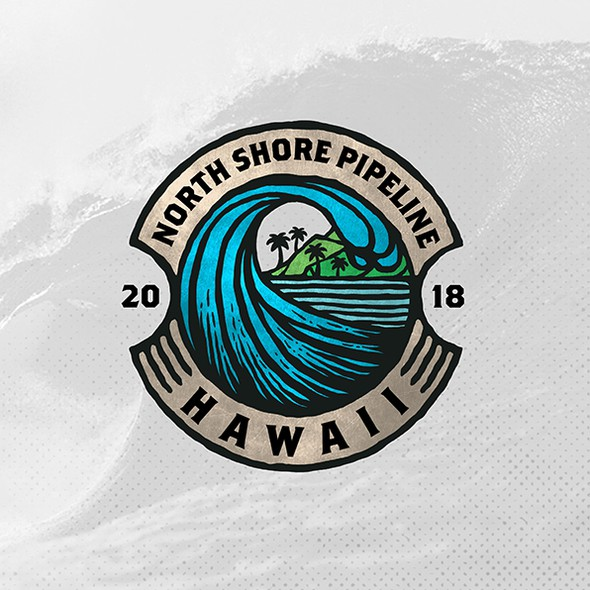Island design with the title 'North Shore Pipeline'