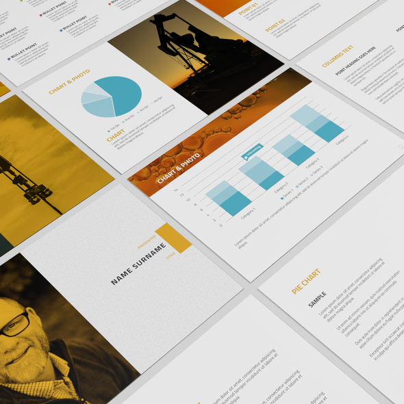 Shooter design with the title 'powerpoint deck design'