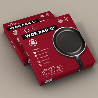 Design a CLEAN, RAD Box for a Saute/Wok Pan