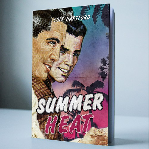 Love book cover with the title 'Creating a cover for the SUMMER heat'
