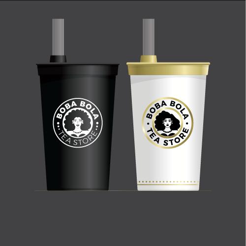 Parcel logo with the title 'Bubble tea store'