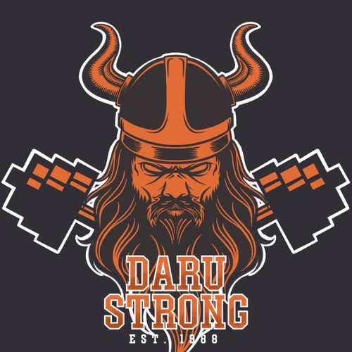 Viking t-shirt with the title 'Strong King'