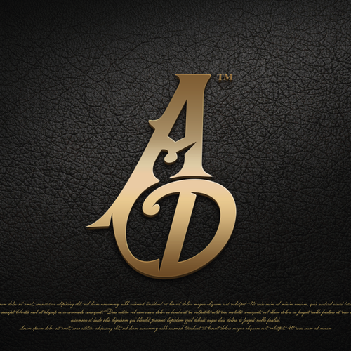 Musician logo with the title 'Adam Dale and AD wordmark'