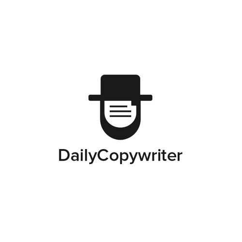 Man logo with the title 'Daily Copywriter'