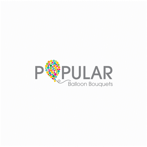 Balloon logo with the title 'Popular Balloon Bouquets'