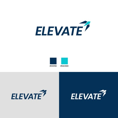 Elevate design with the title 'Logo Design For Elevate'
