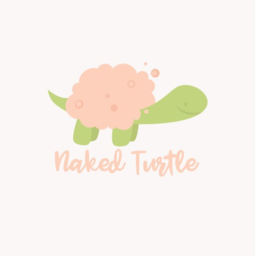Shampoo logo with the title 'Design a cool logo for a natural body wash, Naked Turtle!'