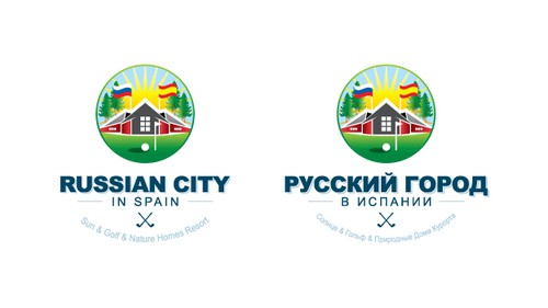 Golf club logo with the title 'Russian City'