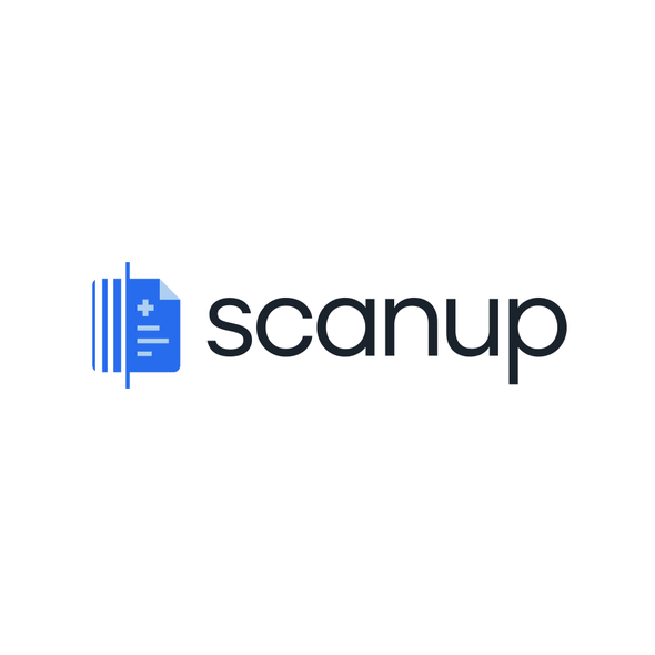 Radiology logo with the title 'Scanup'
