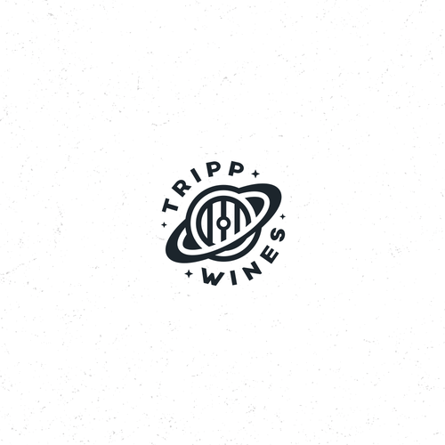 Winery logo with the title 'Spacy Wine Logo'