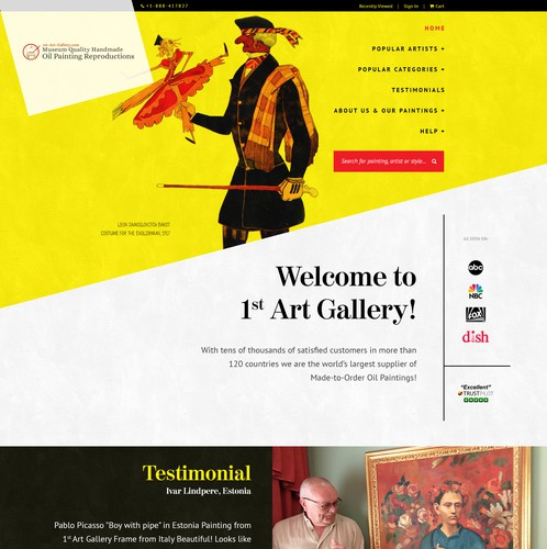 Different design with the title '1st Art Gallery'