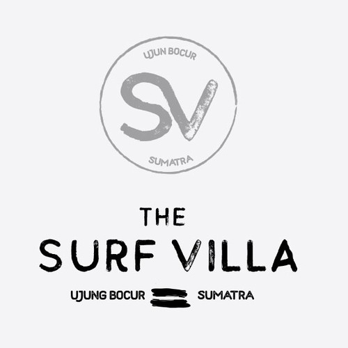 Rugged logo with the title 'Surf logo design'