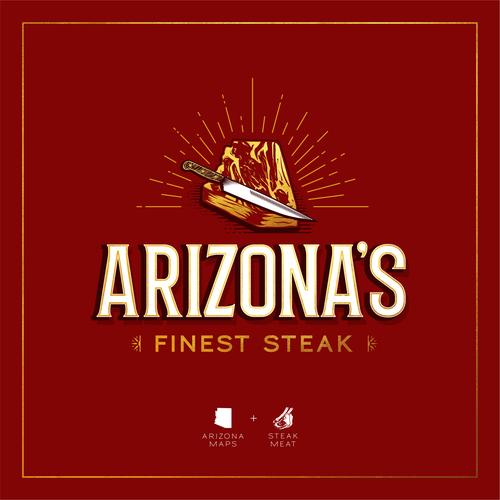Arizona logo with the title 'FINEST STEAK FROM ARIZONA'