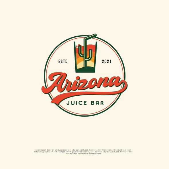 Juice brand with the title 'Arizona Juice Bar Logo'