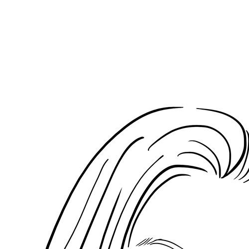 Human illustration with the title 'Simple Portrait Line Drawn Illustration'