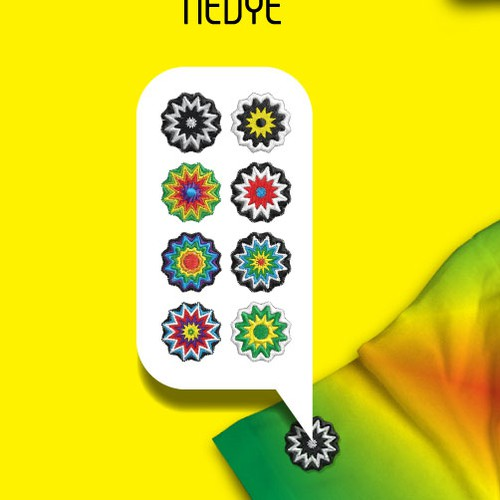 Sunflower design with the title 'Jones' tiedye logo'