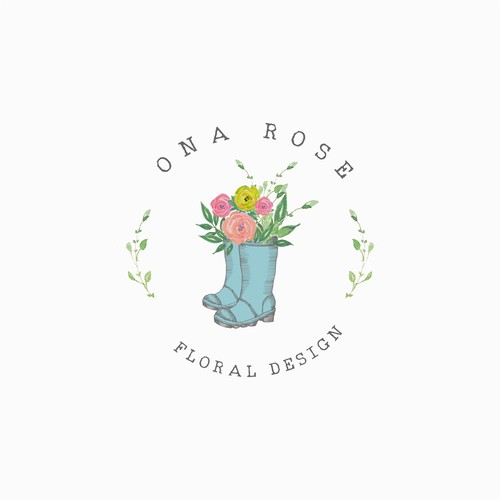 Florist design with the title 'Floral Design Logo'