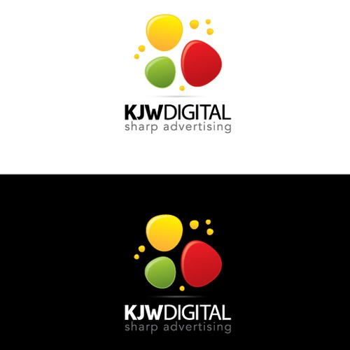 Dot logo with the title 'KJWDIGITAL logo'