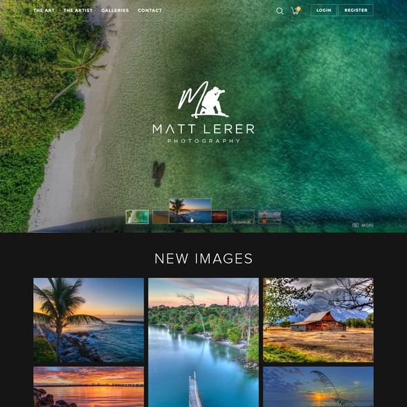 User-friendly website with the title 'Clean elegant website design for a high end photography website'