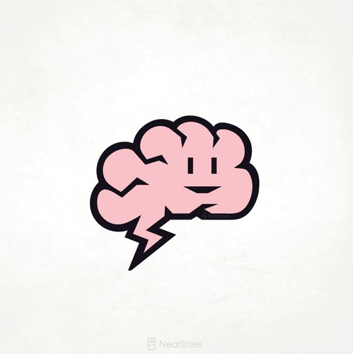 Brain logo with the title 'Mascot/character logo'