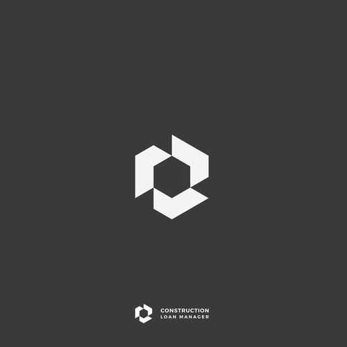 Hexagon logo with the title 'Construction Loan Manager'