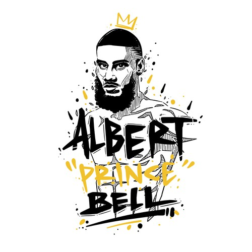 "Mixed martial arts design with the title 'Albert ""Prince"" Bell 2'"