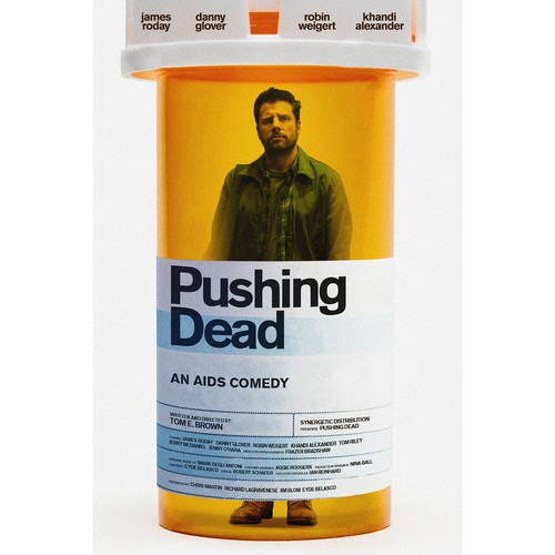 Movie design with the title 'Movie poster for Pushing Dead'