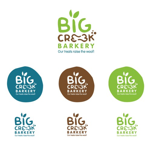 Canine logo with the title 'Logo for a dog Bakery - healthy dog treats'