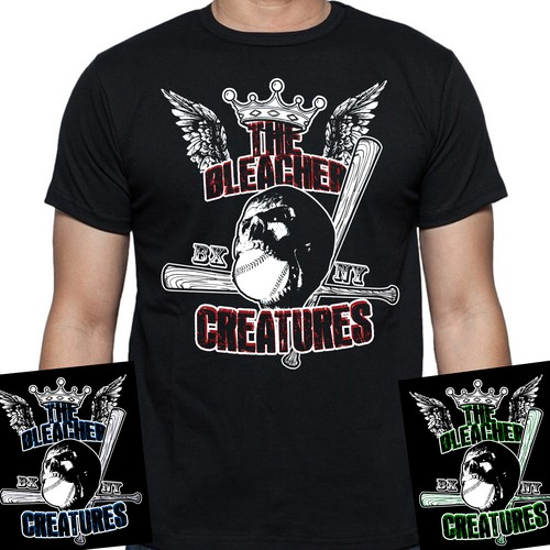 Fan design with the title 'Bleacher creatures fan shirt'