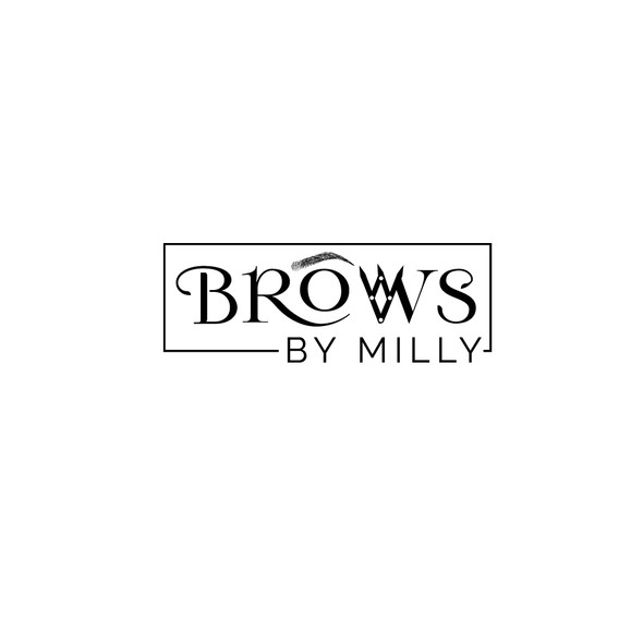 Microblading logo with the title 'Logo for #1 voted eyebrow artist in Atlanta'