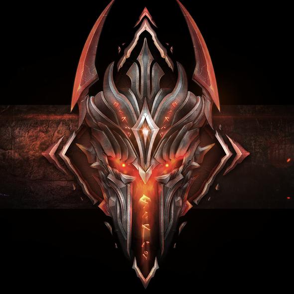 Knight logo with the title 'Dark Army Miniatures Stream Logo'