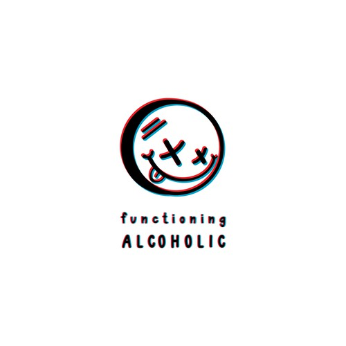 Smile design with the title 'Functioning Alcoholic'