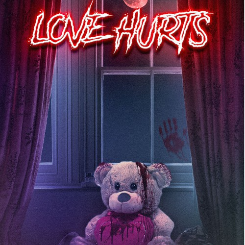 Movie illustration with the title 'love hurts'
