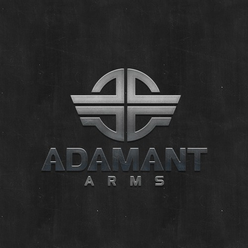 Target design with the title 'Adamant Arms'