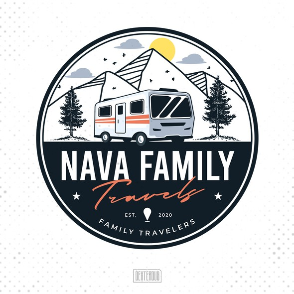 Classic modern design with the title 'Nava Family Travels'