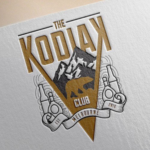 Alaska logo with the title 'Create logo for The Kodiak Club,  popular Melbourne bar'