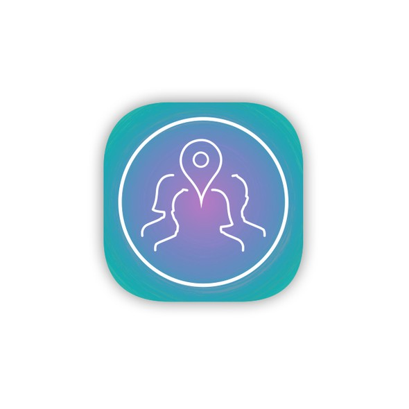 App logo with the title 'Logo for event-social app based on aura'