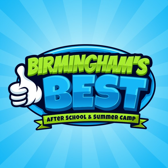 Summer camp logo with the title 'Birmingham's BEST After School & Summer Camp'