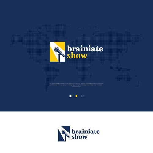 Karaoke logo with the title 'brainiate show'