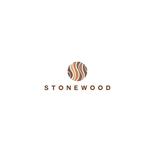 Stone logo with the title 'Stone Wood'