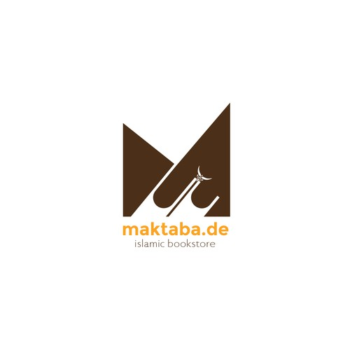 Crescent logo with the title 'Maktaba Islamic Book Store'