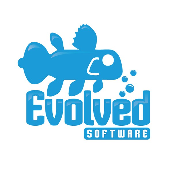 Word art logo with the title 'Evolved Software - Word Art Logo (Evolved Software)'
