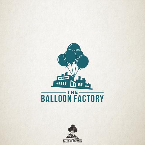 Balloon logo with the title 'Logo Design for Balloon Factory'