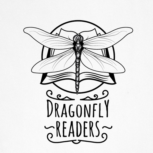 Dragonfly logo with the title 'a hipster logo for children home libraries'