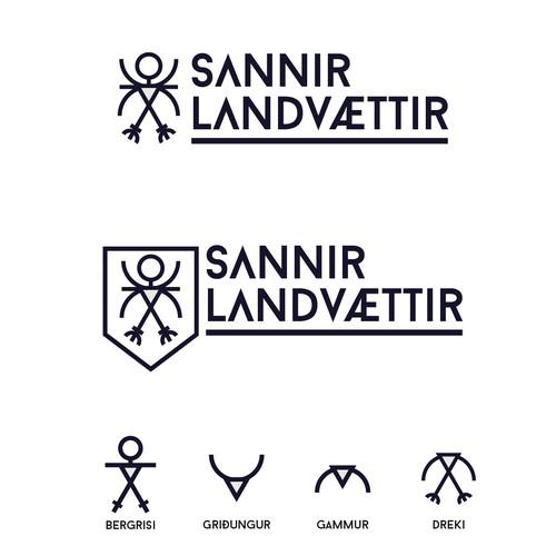 Iceland design with the title 'Icelandic Gaurdians Logo'