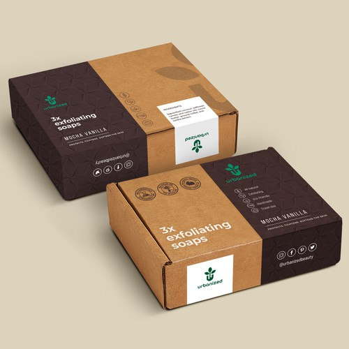 Custom packaging with the title 'package and Logo design'